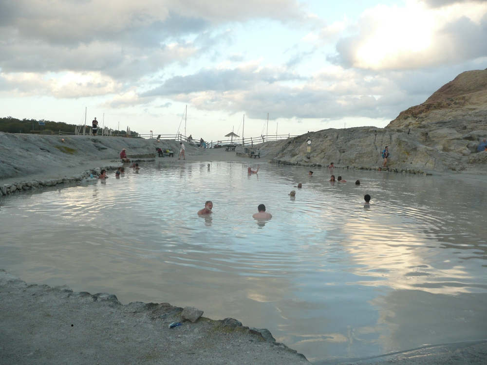 Mud pools on Vulcano